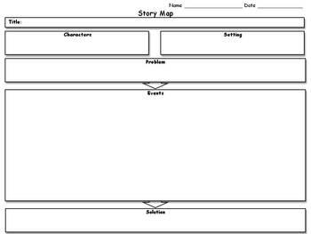 Story Map - Graphic Organizer - Landscape - King Virtue