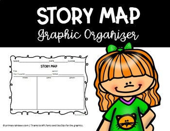 Story Map Graphic Organizer (Problem, events, and solution)