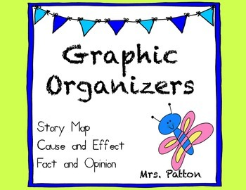 Story Map Graphic Organizers  - Cause and Effect, Problem and Solution
