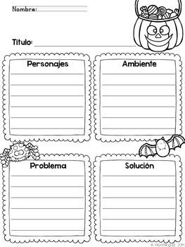 Story Map ~Halloween {SPANISH} FREEBIE~