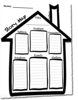Story Map House Outline Graphic Organizer Template (Differentiated)