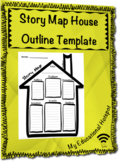 Story Map House Outline Graphic Organizer Template (Differ