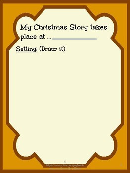 Alphabet Specialty: Story Map  'My Christmas Story Book'