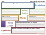 Story Map Organizer (Rising Action, Climax, Falling Action, Resolution)