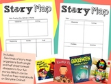 Story Elements Map: Problem and Solution or Beginning, Middle, End