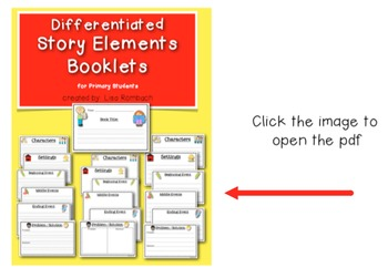 Story Map SmartBoard Lesson (Basic Story Elements) for primary grades