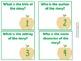 Story Map Task Cards - Orange Chevron Apples