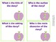 Story Map Task Cards - Purple Chevron Apples