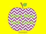 Story Map Task Cards - Purple Chevron Apples