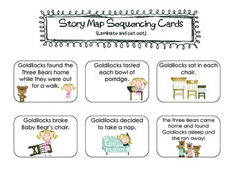 "Story Map: Using Plot to Sequence ""Goldilocks and the Three Little Bears"""