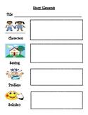 Story Map Worksheet and Large Pocket Chart Labels
