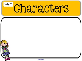 Story Map - SmartBoard and PDF {Organize the Elements of a Story} {CCSS} {Free}