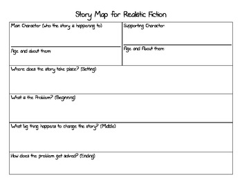 Story Map for Writing Realistic Fiction