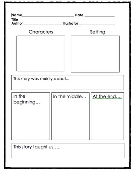 Story Map With Central Message By Dollar Divas Tpt