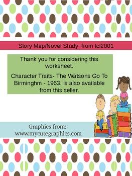 Story Map/Novel Study/Literary Terms for any novel