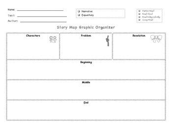 Narrative Story Creative Writing & Summarizing Graphic Organizer