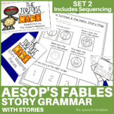 Story Mapping and Sequencing: Aesop's Fables Set 2