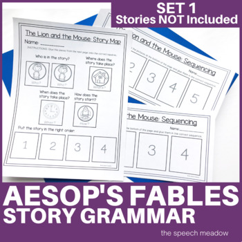Story Mapping and Sequencing: Aesop's fables (Stories NOT Included)