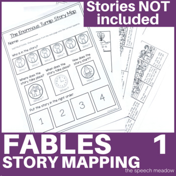 Story Mapping and Sequencing: Folk Tales (Stories  NOT Included)