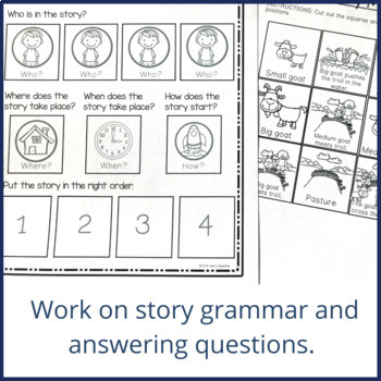 Story Mapping and Sequencing - Three Billy Goats Gruff