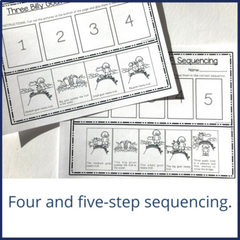three billy goats gruff activities for preschool story mapping and sequencing three billy goats gruff by 513