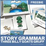 Three Billy Goats Gruff   Story Grammar and Sequencing   Freebie