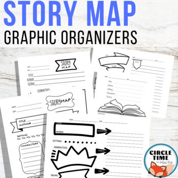 Story Map Graphic Organizer, Retelling Worksheet, ELA Doodle Notes Language Arts