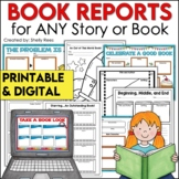 Book Report Templates and Story Map Graphic Organizers DIGITAL and PRINTABLE