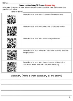 Story Maps and Story Elements with QR Codes