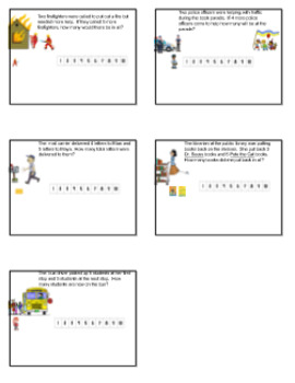 Story Math problems-community helpers