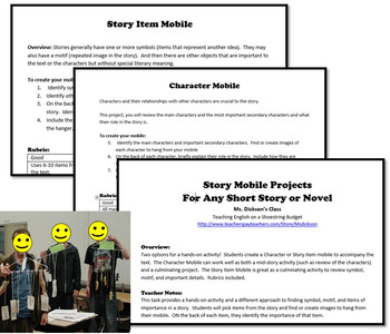 Story Mobile Projects, Works with any Novel or Short Story