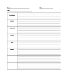 Story Outline Template - English Version