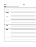 Story Outline Template - Spanish Version