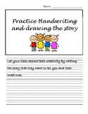 Story Paper - Handwriting with Drawing