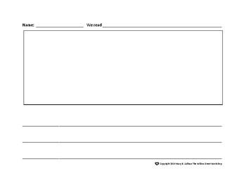 Story Paper Response Sheet, Comprehension Activity Sheet