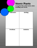 Story Parts Graphic Organizer