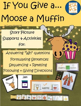 Story Pictures & Activity Set; Moose a Muffin