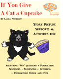 Story Pictures & Activity Set; Cat a Cupcake