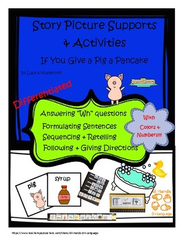 Pig a Pancake, Story Pictures & Activity Set Autism Support