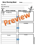Story Planning Sheet - Write or Draw - Printable