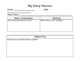 Story Planning Template for Elementary Students