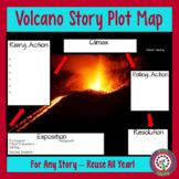 Story Plot Map - Volcano for Google, Digital, or Traditonal Classrooms!