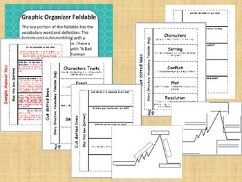 Story / Plot Structure Vocabulary, Foldable, and Graphic Organizer