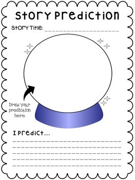 Story Prediction Worksheet