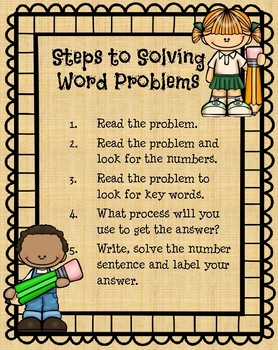 Story Problem Anchor Chart