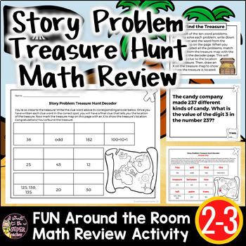 Story Problem Around-the-Room Treasure Hunt