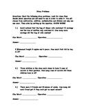 Story Problem Assessment
