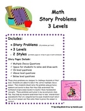 Story Problem Bundle~Adding and Subtracting~3 Levels