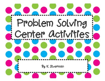 Story Problem Center Activities