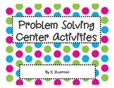 Story Problem Center Activities